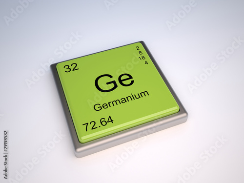 Germanium Chemical Element Of The Periodic Table With Symbol Ge