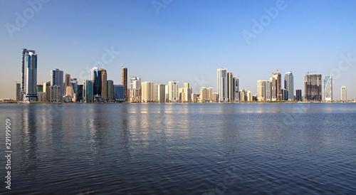 Spoed Foto op Canvas Canada Skyscrapers in Sharjah.