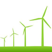 Eco Green Turbines Illustration