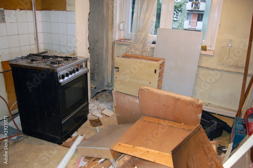 Renovating kitchen, first stage - demolition