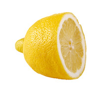 Yellow Lemon On White