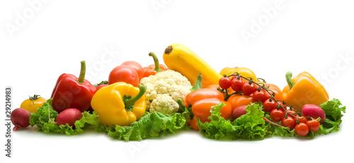 Poster Légumes frais vegetable collection