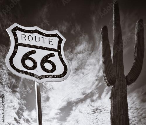 Papiers peints Route 66 Route 66 with Saguaro Cactus