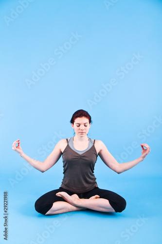 Fotobehang School de yoga Woman meditating