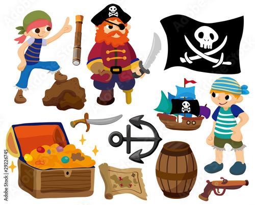 Foto-Stoff - cartoon pirate icon (von notkoo2008)
