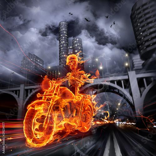 fire-biker