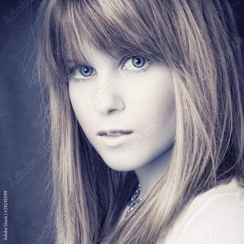 Obraz w ramie portreit attractive blond girl