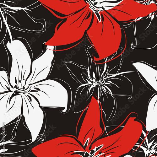 Keuken foto achterwand Abstract bloemen Beautiful floral textue