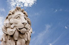 The South Bank Lion Statue In ...
