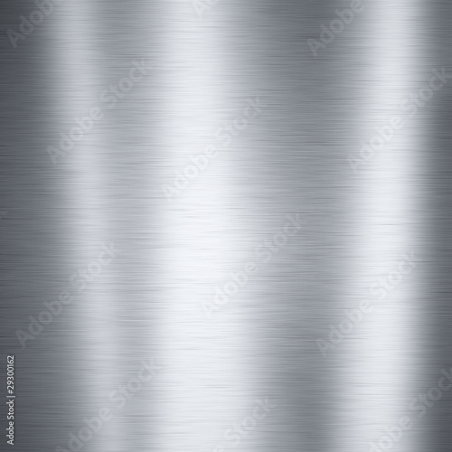 Spoed Foto op Canvas Metal Brushed aluminum metal plate, useful for backgrounds