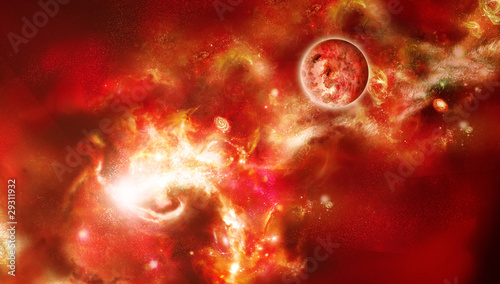 Beautiful picture of red space