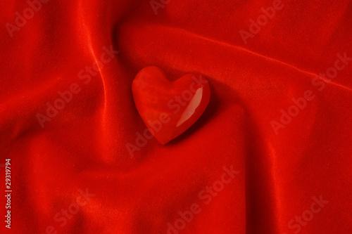 Photo  Roter Samt mit Herz