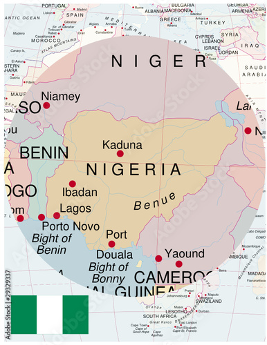 Nigeria map africa world business success background - Buy this ...