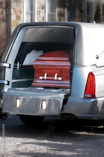 Photo Coffin in a hearse