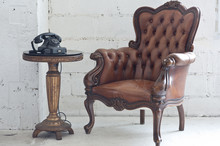 Brown Chair Vintage Style