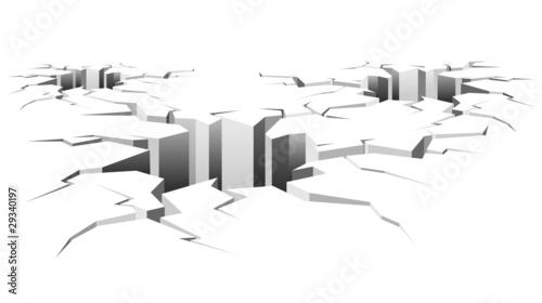 Printed kitchen splashbacks Draw Buco Crepaccio-Holes on Ground-Vector