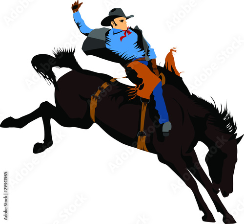 Deurstickers Wild West cowboy