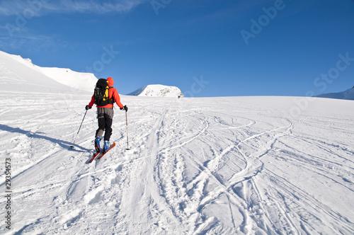 Aluminium Prints Mountaineering Skibergsteigen