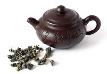 Ceramic China Teapot And Oolon...