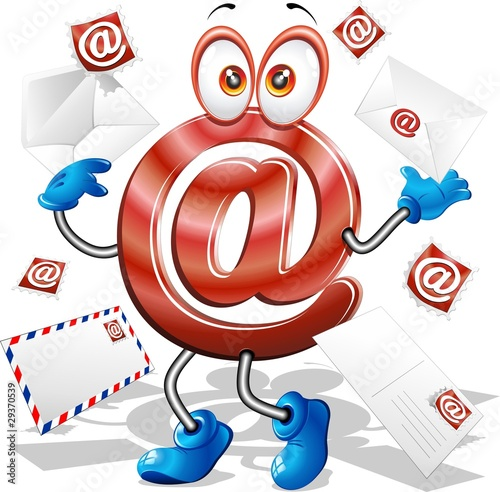 Foto auf AluDibond Ziehen E-Mail Simbolo Cartoon-E-Mail Symbol Cartoon-Vector