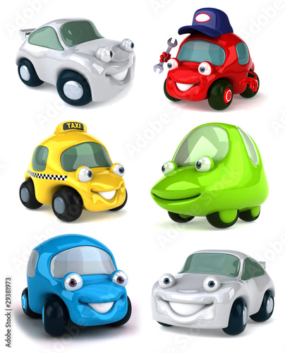 Spoed Foto op Canvas Cartoon cars Cars