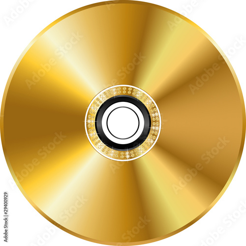 Fotografia, Obraz Vector gold disc