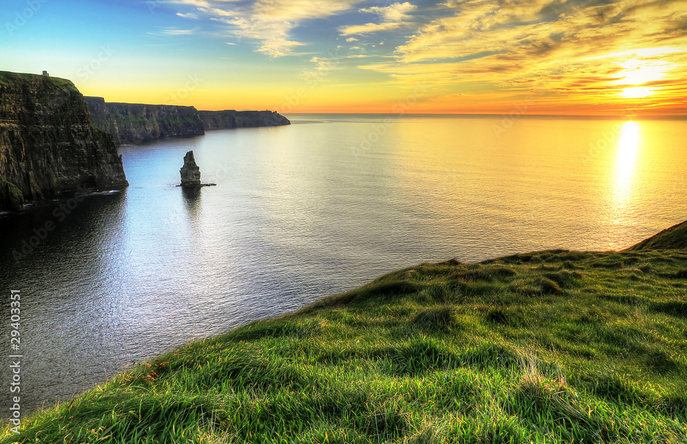 Fototapeta Cliffs of Moher at sunset - Ireland