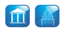 Capitol And Portico Icons