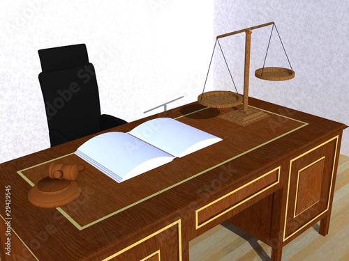 Despacho del juez Canvas Print