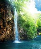 wodospad w głębokim lesie - 29431705