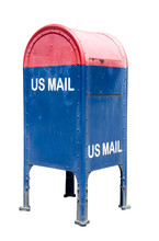 Blue And Red Mailbox