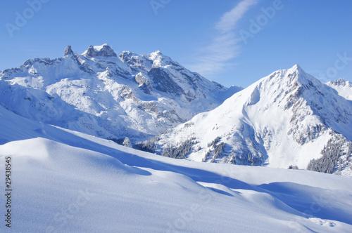 Plakaty krajobraz gory-zima