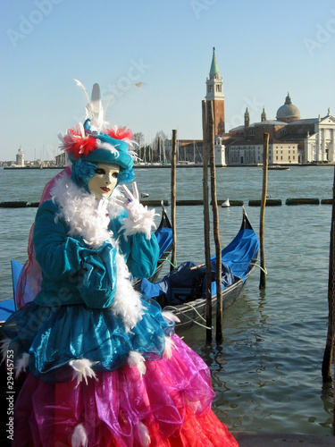 Stickers pour porte Venise beautiful and colorful mask during Carnival in Venice