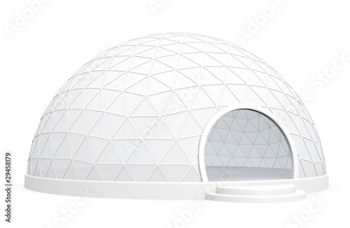 Papel de parede Exhibition dome tent