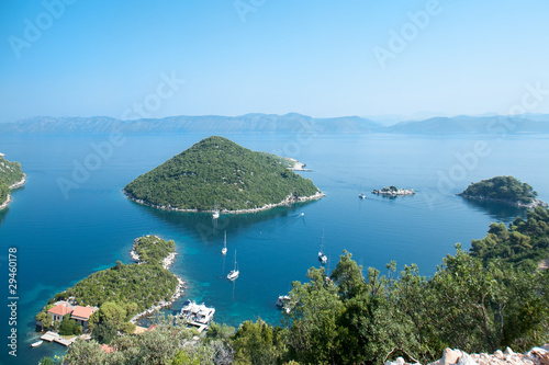 Printed kitchen splashbacks Khaki Panoramic view of the Prozura bay, island Mljet