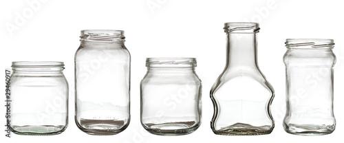 Papel de parede Collection of glass bottle