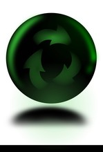 Kula Z Symbolem Recyklingu