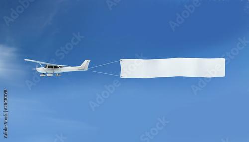 Über den Wolken - Ihre Botschaft Canvas Print