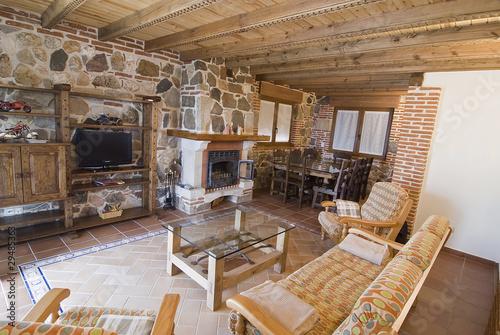 Salon Rustico Con Chimenea Buy This Stock Photo And Explore - Salon-rustico