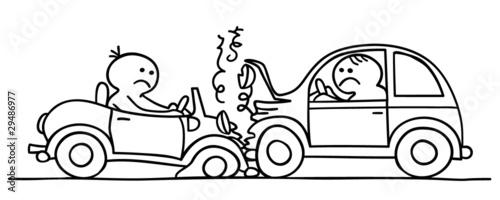 figur macht autounfall