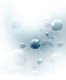 Futuristic background with molecules blue