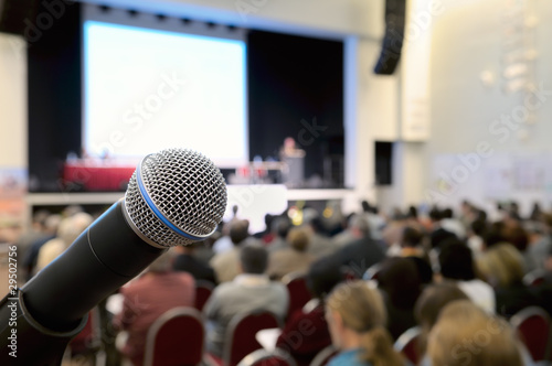 Fotografía  Microphone at conference.