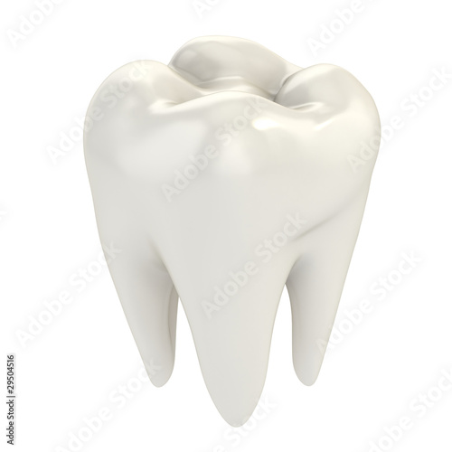 Fotografie, Obraz  isolated tooth 3d illustration