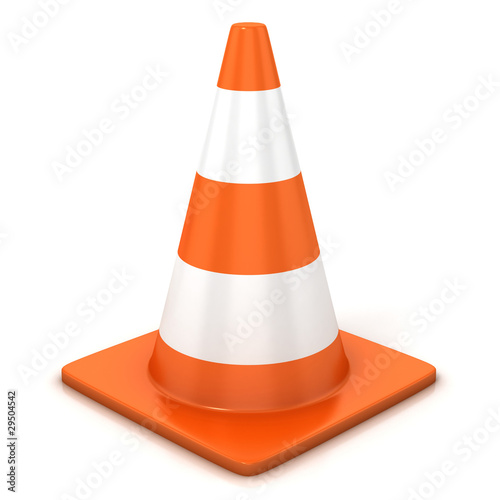 Fotografie, Obraz  traffic cone isolated over white