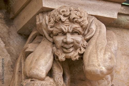 Fototapeta Satyr close-up, Wallpavillion of the Zwinger Palace, Dresden