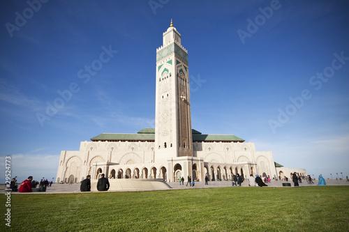 Poster Maroc Moschea di Hassan II - Casablanca