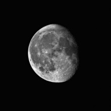 Waning Gibbous Moon Captured W...