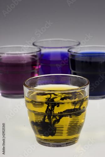 Foto op Plexiglas Cyprus verres colorés