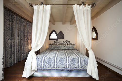 luxury residential apartments, canopy bed Fototapeta