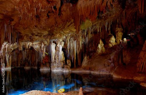 Fotografie, Obraz  grotta con lago